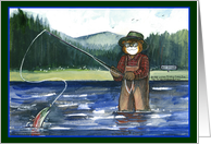 Fly Fishing for Father's Day card