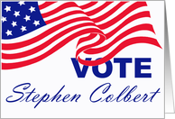 Vote Stephen Colbert Card