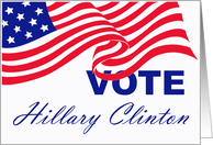 Vote Hillary Clinton Card