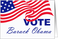 Vote Barack Obama Card