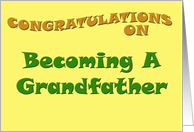 Congratulations on Becoming a Grandfather card