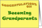 Congratulations on Becoming Grandparents card
