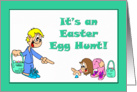 Easter Egg Hunt Party Invitation card