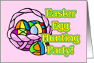 Easter Egg Hunting Party Invitation card
