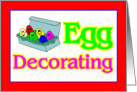 Egg Decorating Party Invitation card