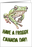 Froggy Canada Day card