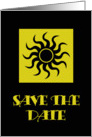 Black Sun Save The Date card