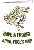 Have a Froggy April Fool's Day card