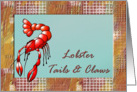 Lobster Tails & Claws Party Invitation card