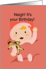Neigh! Year of the Horse Baby Girl card