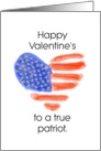 Happy Valentine's Day Patriot card