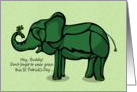 St Patrick's Day Elephant for Friend card