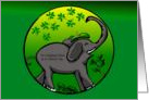 Elephant St Patrick's Day Friend card