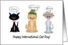 Happy International Cat Day! card