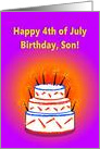 Happy 4th of July Birthday, Son! card