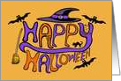 Happy Halloween Letters card