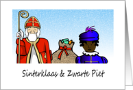 Sinterklass and Zwarte Piet card
