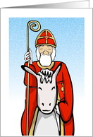 Sinterklaas on his horse card