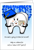 Graduate is off Tooth Dental School! Party Invite card