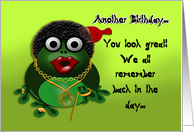 Afro Birthday Humor card