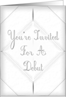 You're Invited Debut card