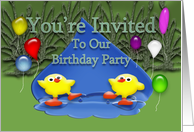 Birthday Party for Twins card