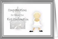 Congratulations First Confirmation Girl card