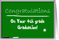Congratulations 4th grade graduation, chalkboard card