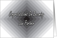 Congratulations On Becoming Law Partner card
