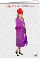 Red Hat Lady card
