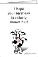 Happy Birthday Cow! card