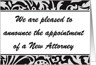 New Attorney announcement 2 card