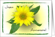Sunflower Happy B-Day in French card