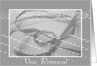 Vow Renewal Ring Invitation in B&W card