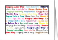 Happy Labor Day on white Card