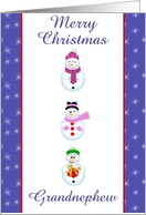 Merry Xmas grandnephew card