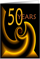 50 Years Gold Twist card