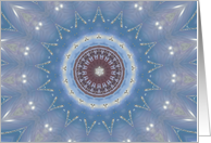 Winter Solstice Mandala card