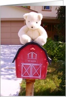 Barn Mailbox Bear card