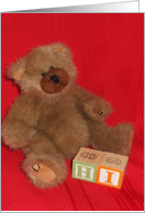 Hi from Teddy Bear card