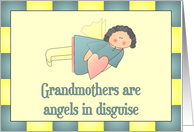 Grandmothers are angels in disguise card