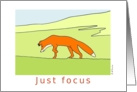 Red fox Encouragement Card
