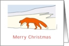 Red fox in snowy scene Merry Christmas Card