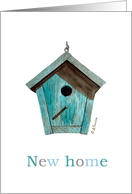 New Home Bird House Announcement Card
