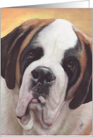 Saint Bernard Dog Painting card