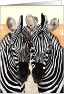 For Twins - Zebra Painting card