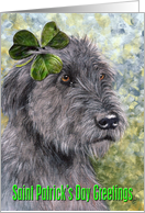 St. Patrick's Day Irish Wolfhound card