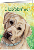 Mother's Day Cute Lab Adore You from Dog card