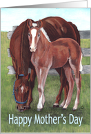 Horse Mom Mother's Day Verse card