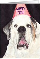 Dog PAWTY Time Pet Party Invite card